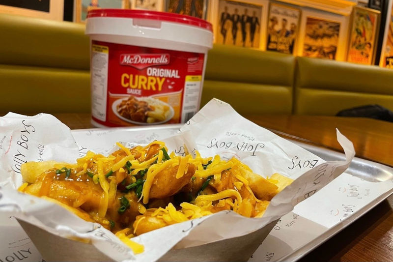curry cheese chips